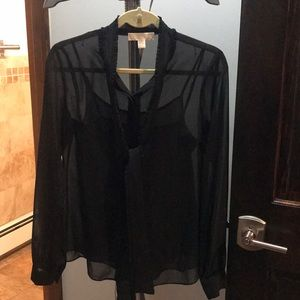 Michael Kors Sheer Blouse /attached Cami